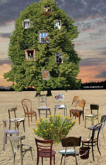 picture of chairs and tree